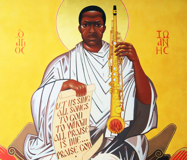 Saint John Will-I-Am Coltrane come appare nella chiesa di Fillmore Street a San Francisco