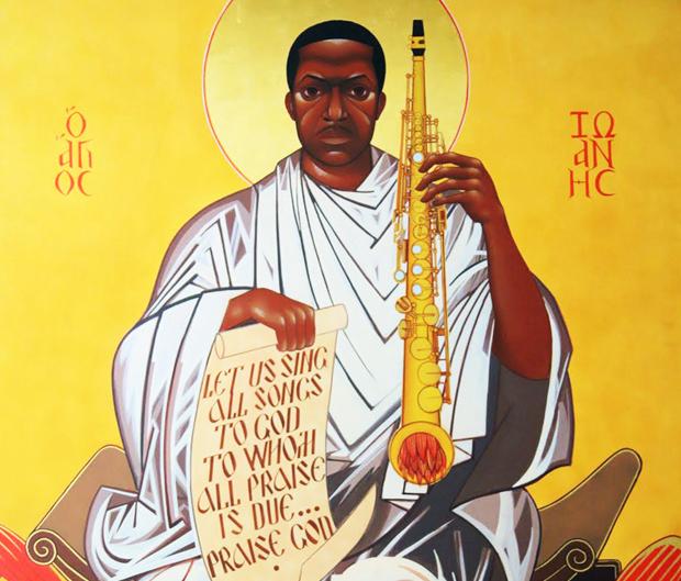 Saint John Will-I-Am Coltrane come appare nella chiesa di Fillmore Street a San Francisco
